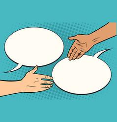 contract handshake meeting vector image vector image