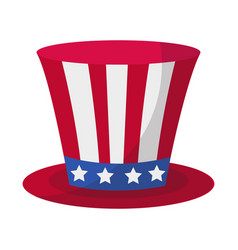 Cylinder hat icon flat style 4th july concept vector