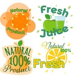 Digital fresh orange juice vector image