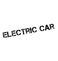Electric car rubber stamp vector
