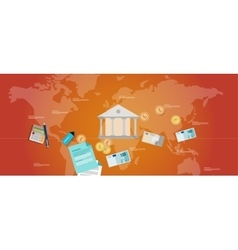 Financial governance banking money regulation vector