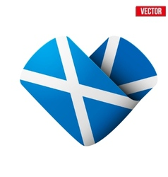 Flag icon in the form of heart i love scotland vector