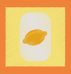 Flat shading style icon lemon symbol vector