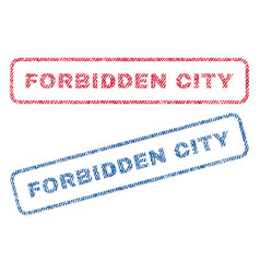 Forbidden city textile stamps vector