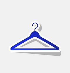 Hanger sign new year bluish vector