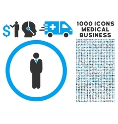 Manager Rounded Icon With Medical Bonus vector image vector image