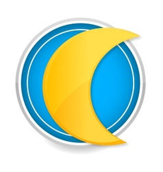 moon sign yellow color on the circle vector image vector image