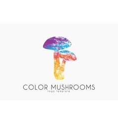 Mushrooms logo Color mushrooms Creative logo vector image