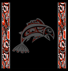 native salmon vector image vector image