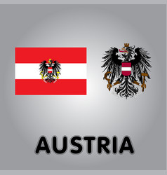 Official government elements of austria vector