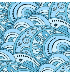Ornamental waves vector image vector image