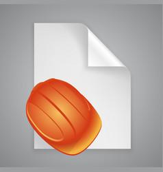 paper symbol helmet vector image vector image