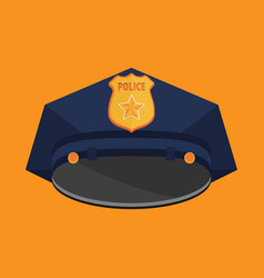 Police hat flat vector