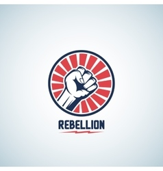 Rebellion fist symbol abstract emblem or vector