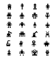Robots icons 5 vector