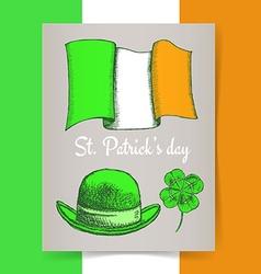 Sketch Irish poster vector image