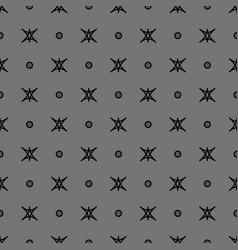 star and polka dot geometric seamless pattern 21 vector image vector image