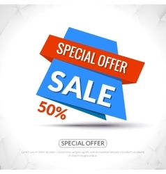 Super Big Sale paper origami banner Sale vector image vector image