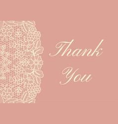 thank you card vector image