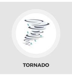Tornado icon flat vector