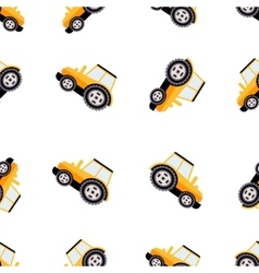 Work Trucks Seamless Pattern Flat vector image vector image