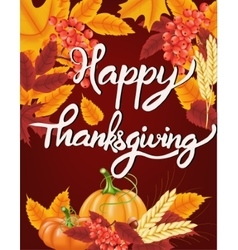 Happy thanksgiving celebration background autumn vector
