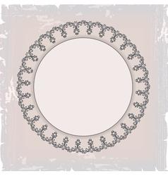 Round floral vintage frame vector
