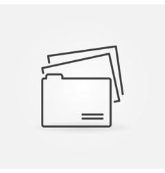 Folder line icon vector