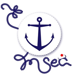 Nautical design anchor vector