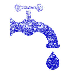 Water tap grunge textured icon vector