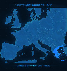 Europe abstract map greece vector