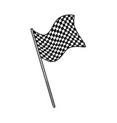 Drawing flag sport finish winner design vector