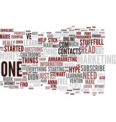 Forget the hype text background word cloud concept vector