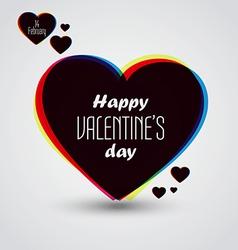 valentine card 7 vector image
