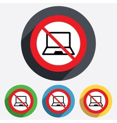 No laptop sign icon notebook pc symbol vector
