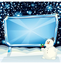 Xmas billboard vector