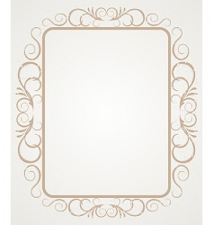 Vintage frame border design vector