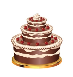 Decorated chocolate cake3 vector