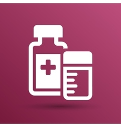 Natural medication medicament antibiotics icon vector
