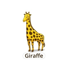 Giraffe african savannah animal cartoon vector