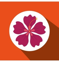 Hawaiian flower design vector