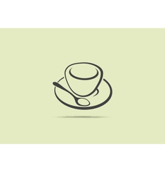 Web application icon of a coffee cup vector