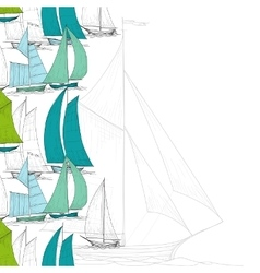 Boats background vector