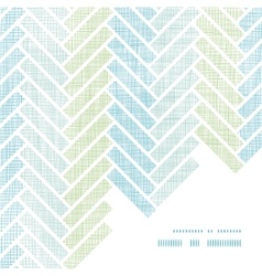 Abstract textile stripes parquet frame corner vector