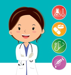 Beautiful medical doctor vector image vector image