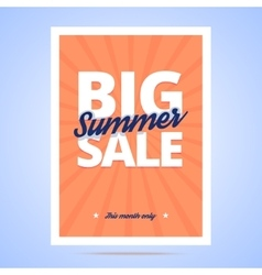 Big Summer Sale poster vector image