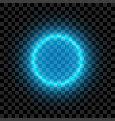 Blue illuminated circle vector