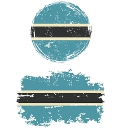 Botswana round and square grunge flags vector image vector image