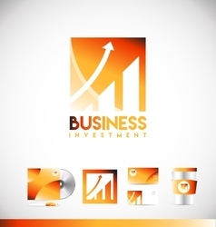 Business investment graph logo icon design vector