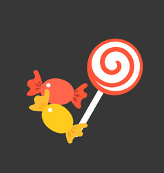 Candy and lollipop vector